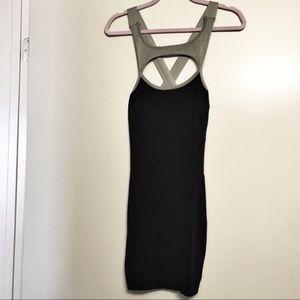 Bebe | Black & Silver Bandage Bodycon Mini Dress S